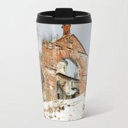 Vintage at the church gate. Travel Mug