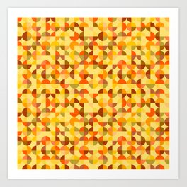 Abstract geometric background Art Print