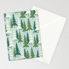 Winter Pines Stationery Cards