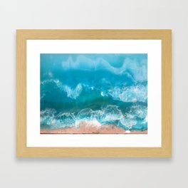 I Dream of Turqouise Seas Framed Art Print