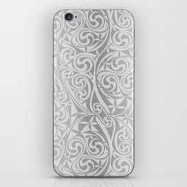 Celtic Warlord silver iPhone Skin