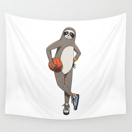 The sporty sloth Wall Tapestry