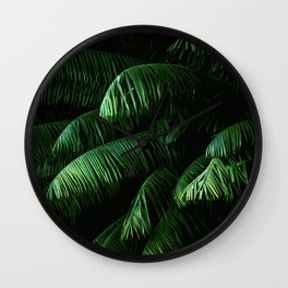 Lush green palms Wall Clock