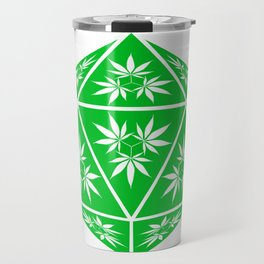 D20 Pot Leaf Crit Dice Travel Mug