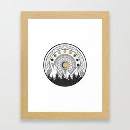Moon Forest Framed Art Print