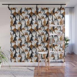 A Bunch of Siberian Huskies Wall Mural