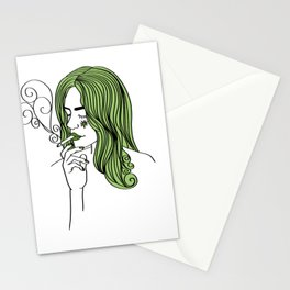 ganja girl weed 420 Blaze Marihuana gift present Stationery Cards