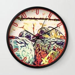 Baby Birds Wall Clock