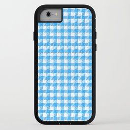 Picnic Pals gingham in blueberry iPhone Case
