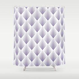 Modern Ultra Violet Purple Leafs Pattern Shower Curtain