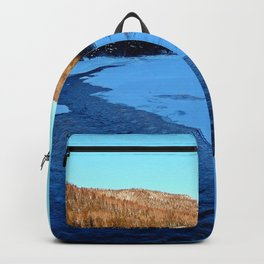 Frozen Mountain River Backpack