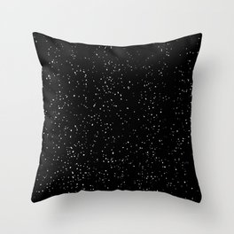 Black and White Speckled Pattern Throw Pillow