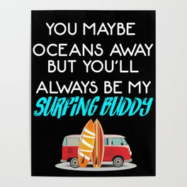 Surfing Buddy Poster