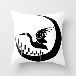 Soaring over the Wetlands Throw Pillow