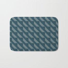 Simple Geometric Pattern 4 in Aqua Bath Mat