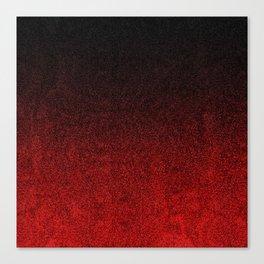 Red & Black Glitter Gradient Canvas Print