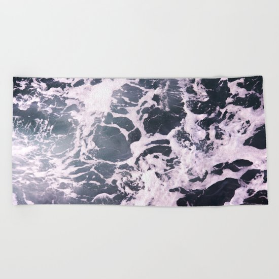 Marbled Waves Beach Towel