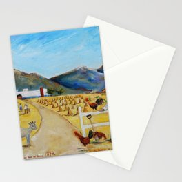The Enmedio Ranch El Rancho de Enmedio Oil on Canvas Juan Manuel Rocha Kinkin Stationery Cards