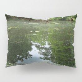 Magnolia Red Garden Bridge Pillow Sham