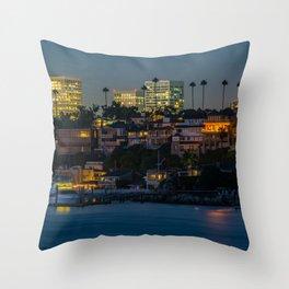 Newport at Night Throw Pillow