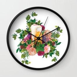 Beer Bouquet Wall Clock