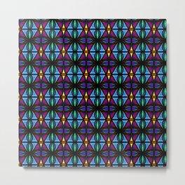 Purple and Blue Diamonds Metal Print