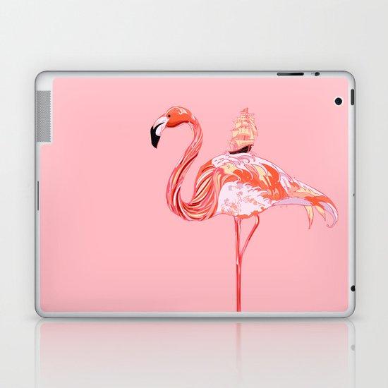 Flamingo & Sea Laptop & iPad Skin