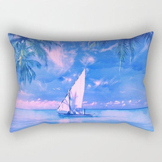 Tropical yachting Rectangular Pillow