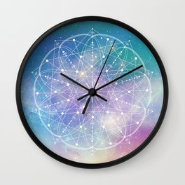 Sacred Geometry (Interconnected) Wall Clock