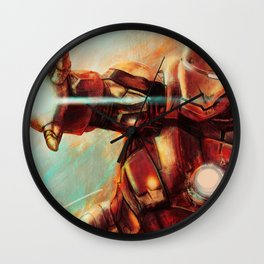 Big man in a suit of armor Wall Clock