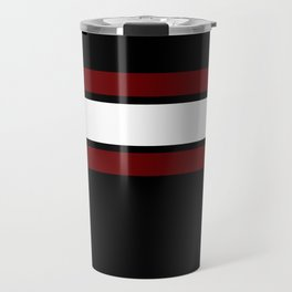 Team Colors...Maroon and white stripeswith black Travel Mug