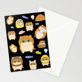 Hosico Cat - Black Stationery Cards
