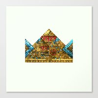 crown Canvas Prints featuring CROWN by TANGRAMMAR