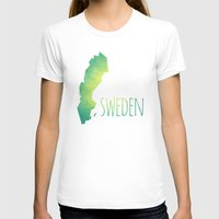 sweden T-shirts featuring Sweden by Stephanie Wittenburg