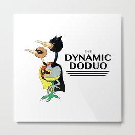 The Dynamic Doduo Metal Print
