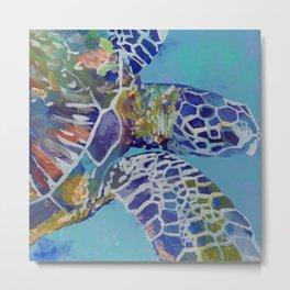 Honu Kauai Sea Turtle Metal Print
