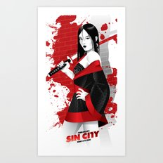Sin City-Miho Art Print
