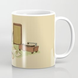Record Player Girl Coffee Mug