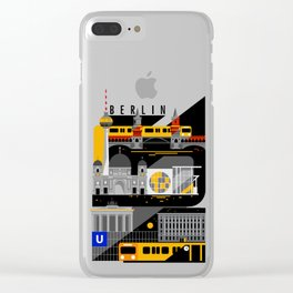 Berlin at Night Clear iPhone Case