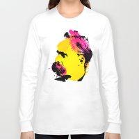 nietzsche Long Sleeve T-shirts featuring Friedrich Wilhelm Nietzsche by DIVIDUS DESIGN STUDIO