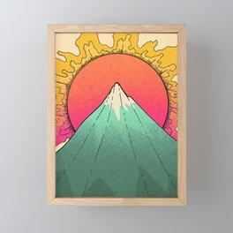 As a spring sun burst  Framed Mini Art Print