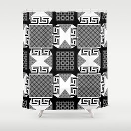 Geometric patchwork Shower Curtain