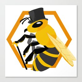 Bee Fancy Canvas Print