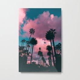 California Sunset Palms Photography Metal Print
