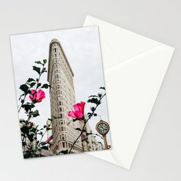 Pink Flowers in New York City (Color) Stationery Cards