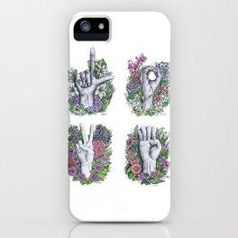 LOVE ASL Art- square version iPhone Case