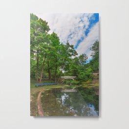 Jean-Drapeau Arch Pond Metal Print