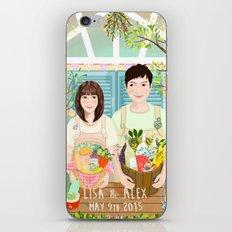 Wedding invitation design for Lisa and Alex iPhone & iPod Skin