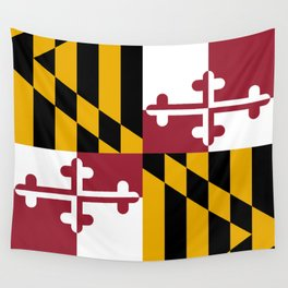 Maryland State Flag, Hi Def image Wall Tapestry