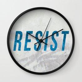 RESIST 2.0 - Blue #resistance Wall Clock